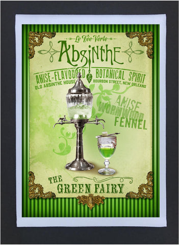New Orleans Culture Tea Towel Absinthe