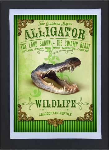 New Orleans Culture Tea Towel Alligator