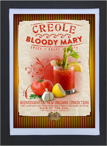 New Orleans Culture Tea Towel Bloody Mary