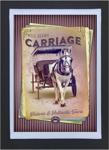 New Orleans Culture Tea Towel Carriage