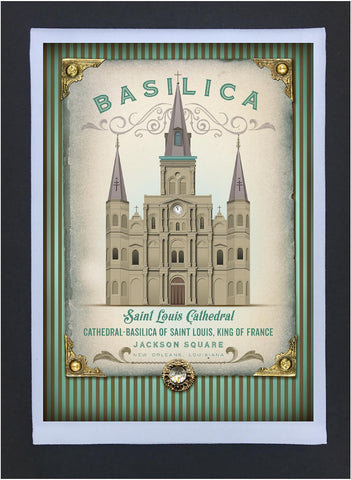 New Orleans Culture Tea Towel Cathedral/Basilica