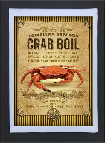 2017 New Orleans Culture Tea Towel Crab Boil