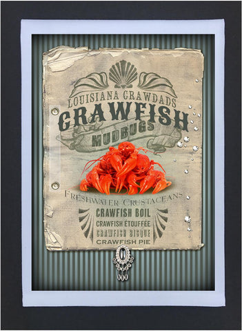 New Orleans Culture Tea Towel Crawfish