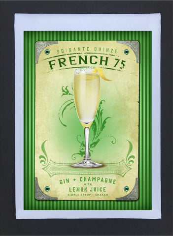 2017 New Orleans Culture Tea Towel French 75