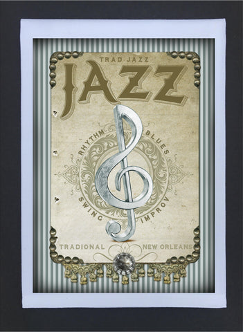 New Orleans Culture Tea Towel Jazz