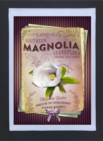 New Orleans Culture Tea Towel Magnolia