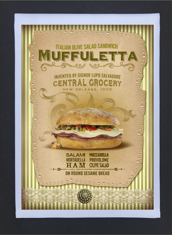New Orleans Culture Tea Towel Muffuletta