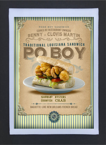 New Orleans Culture Tea Towel Po Boy