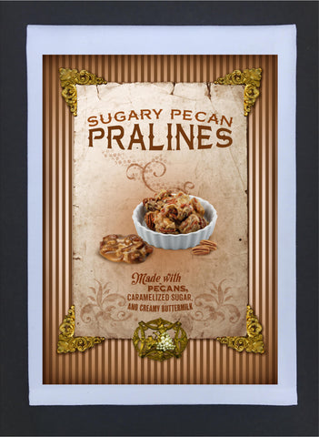 New Orleans Culture Tea Towel Pralines