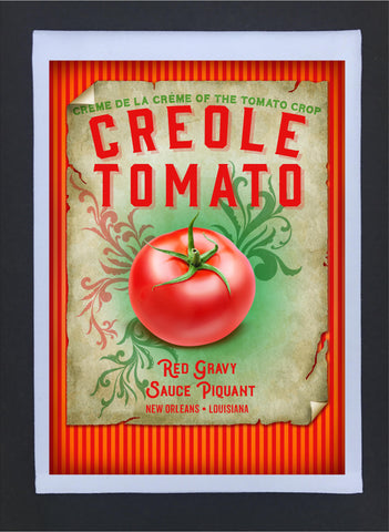New Orleans Culture Tea Towel Creole Tomato