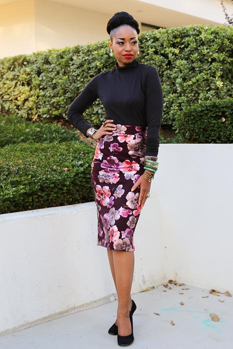 Boss Lady Floral Skirt