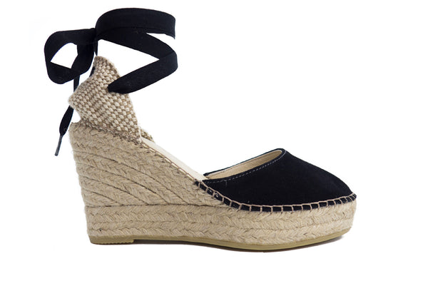 Black Valenciana High Wedge - Ritmo Barcelona