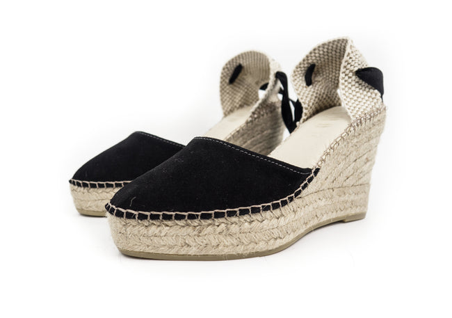 Black Valenciana High Wedge