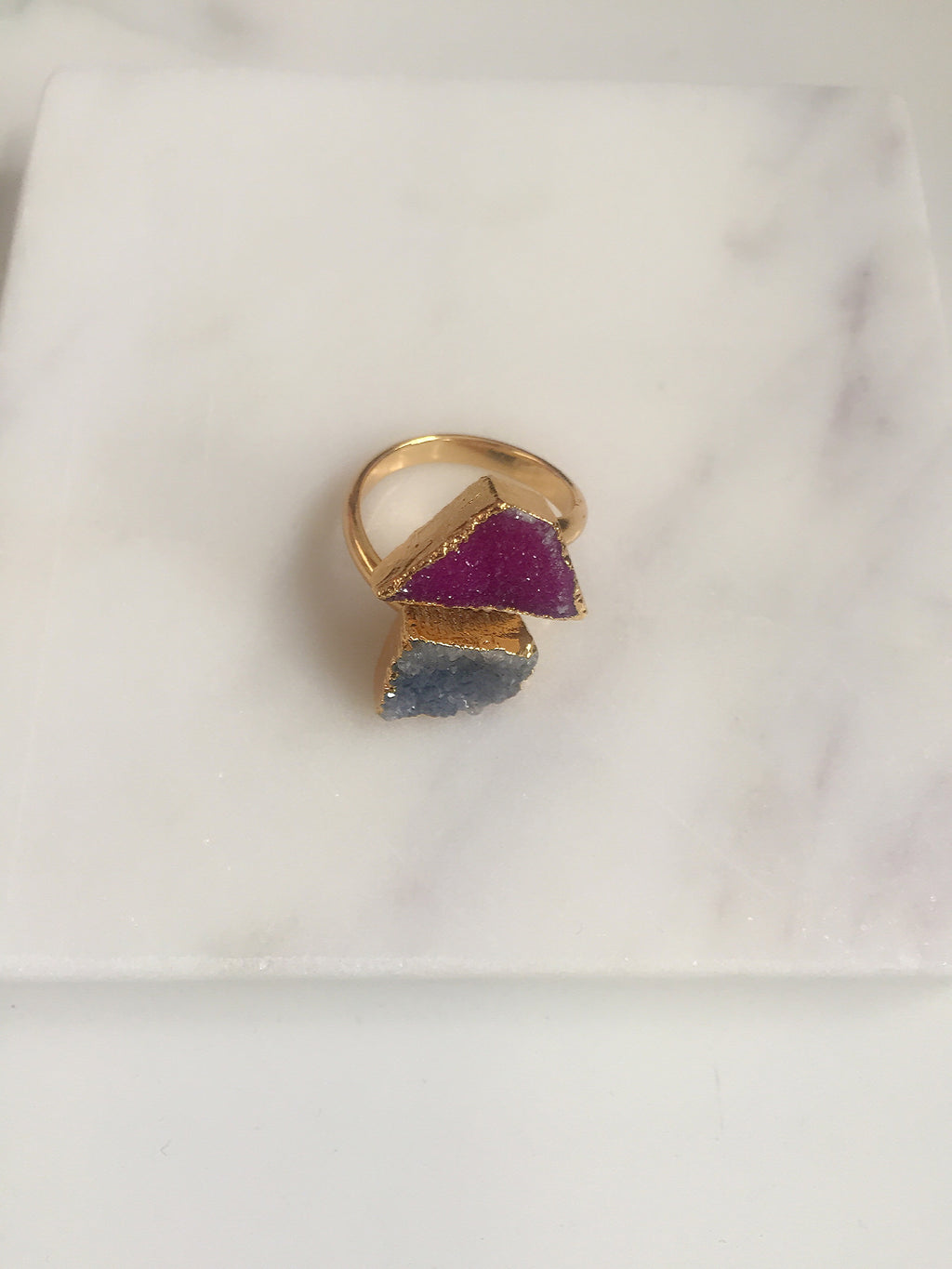 Druzy Agate + Double Ring