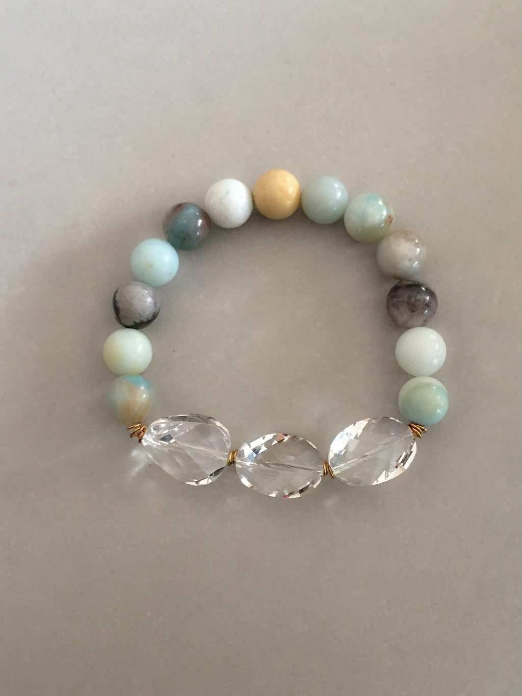 Amazonite + Crystals Bracelet