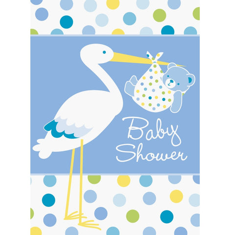 Baby Boy Stork Baby Shower Invitations