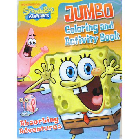 SpongeBob Coloring and Activity Book - 96 pages.