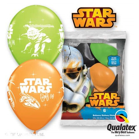 "Latex 12"" Darth Vader And Yoda Latex Balloons 6ct"