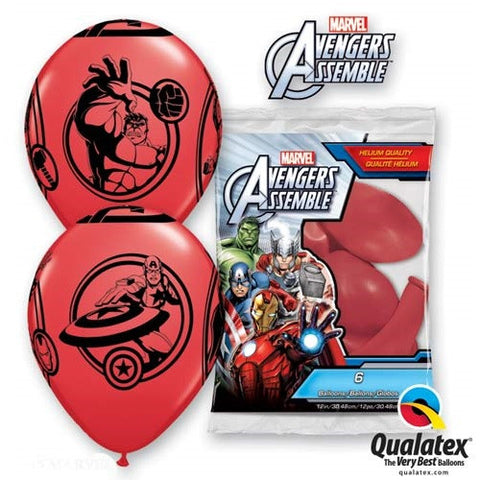 "Latex 12"" Avengers Assemble Balloons 6ct"