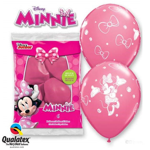 "Latex 12"" Minnie Mouse Balloons 6ct"