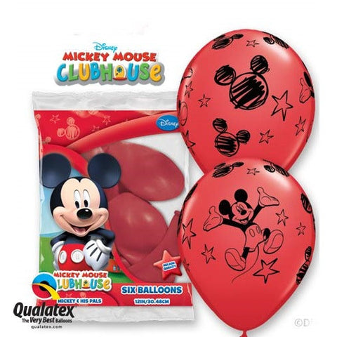 "Latex 12"" Mickey Mouse Balloons 6ct"