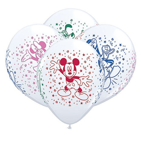 "Latex 11"" Disney Mickey Mouse and his Pals Balloons 25ct"