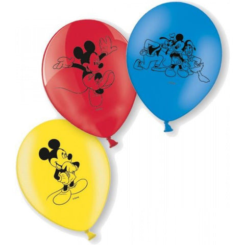 Mickey Mouse Latex Balloons 6ct