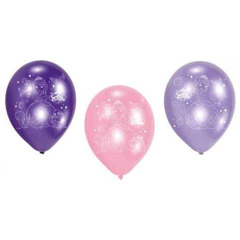 Sofia the First Latex Balloons 6ct