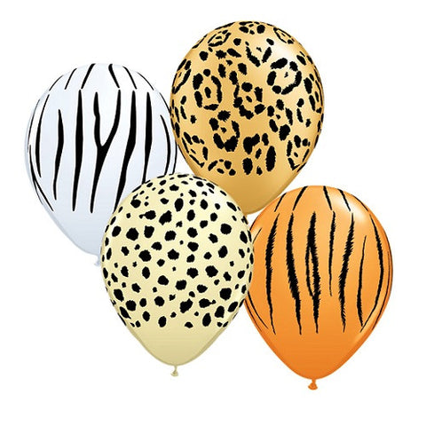 "Latex 11"" Safari Asstorted Balloons 25ct"