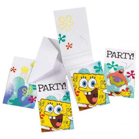 SpongeBob Invitations 6ct