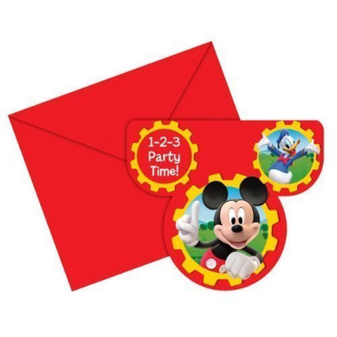 Mickey Clubhouse Invitations 6ct