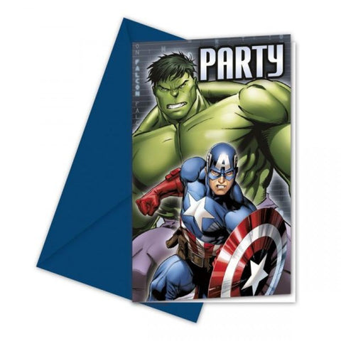 Avengers Multi Heroes Invitations 6ct