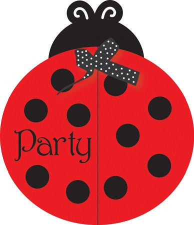 LadyBug Fancy Invitations
