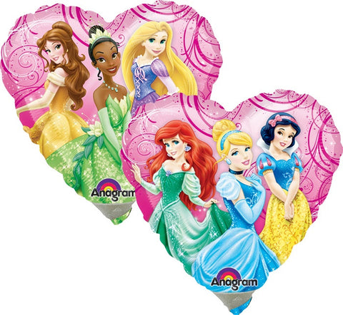 "9"" Princess Garden Heart Foil Balloon"
