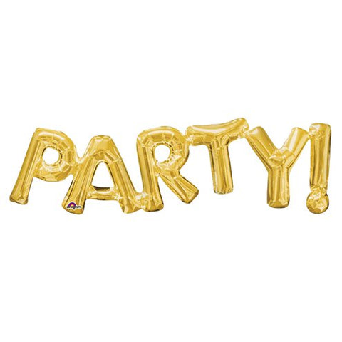 "Party Gold 9"" Foil Phrase Balloon"
