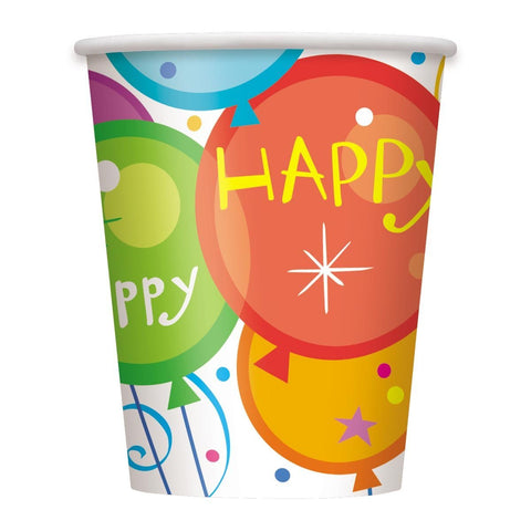 Birthday Pops 9 oz. Party Paper Cups 8ct