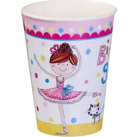 Rachel Ellen Ballerina Party Paper Cups 8ct
