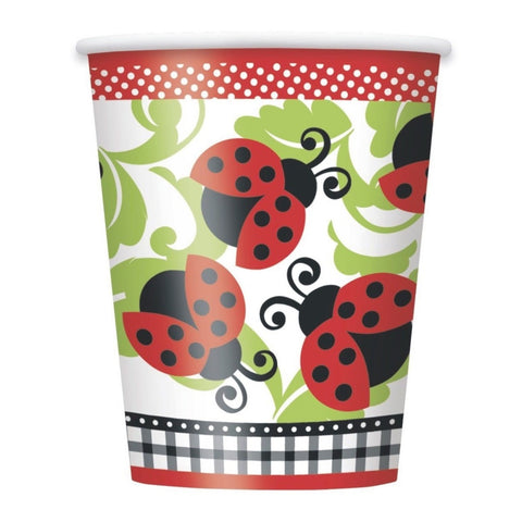 Ladybug Party Paper Cups 8ct