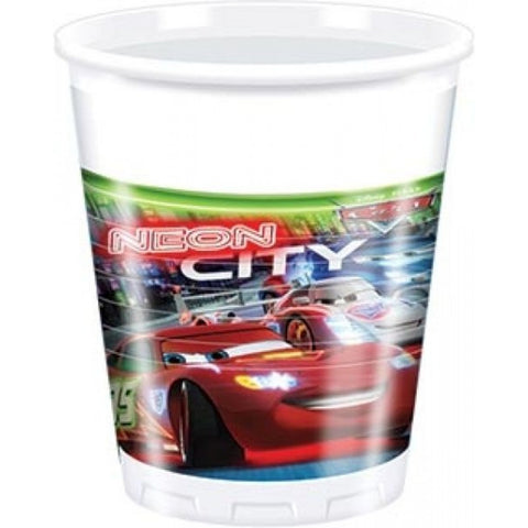 Disney Cars Neon Party Plastic Cups 10ct