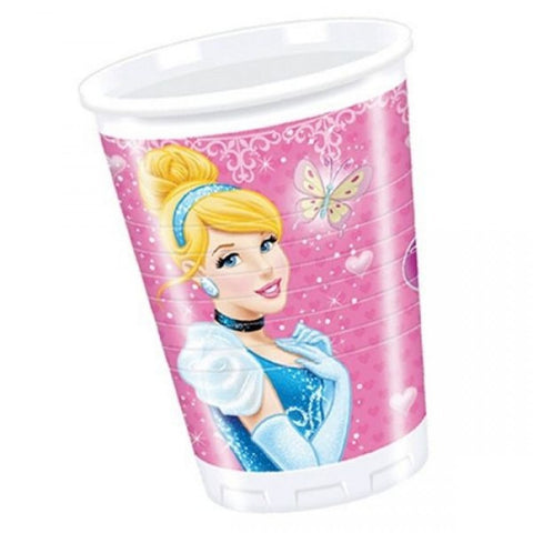 Princess Glamour Party Plastic Cups 8ct