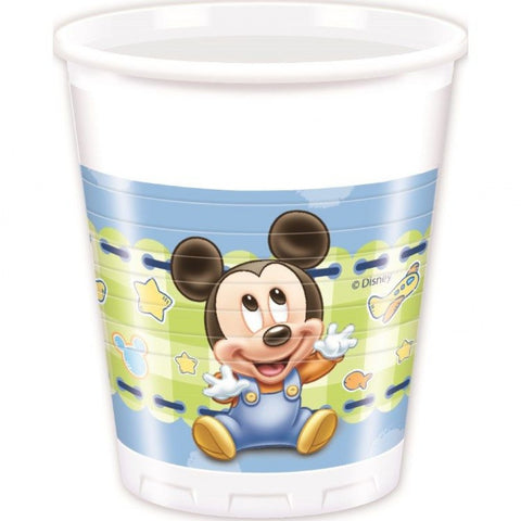 Baby Mickey Party Plastic Cups 8ct