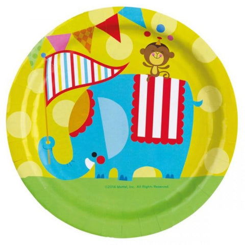 Fisher Price Circus Paper Plates 8ct
