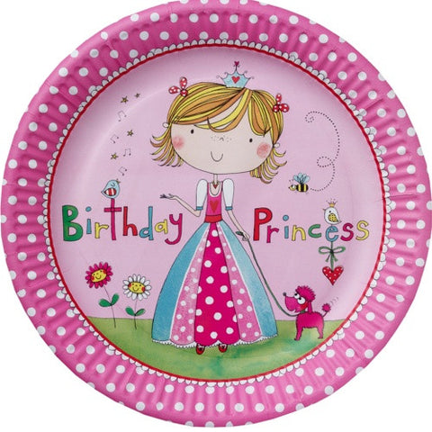 Rachel Ellen Princess Party Paper Plates 8ct