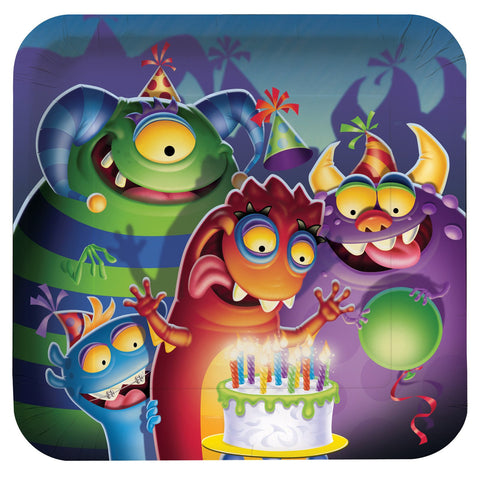 Monster Mania Party Paper Plates 8ct