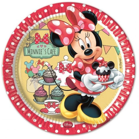 Minnie Café Party Paper Plates 8ct