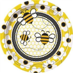 Bumble Bee Party Paper Plates 8ct