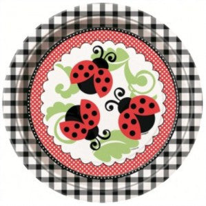 Ladybug Party Paper Plates 8ct