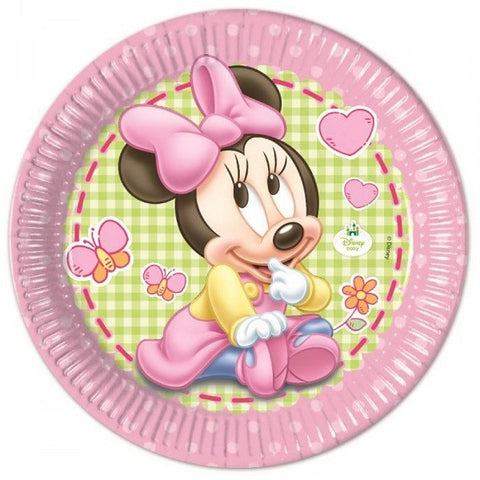 Baby Minnie Party Paper Plates 8ct