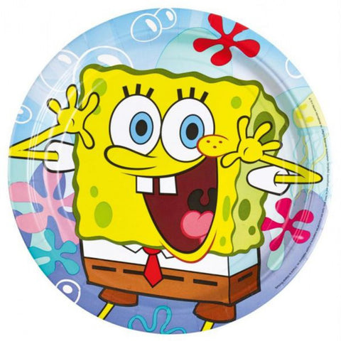 SpongeBob Party Paper Plates 8ct