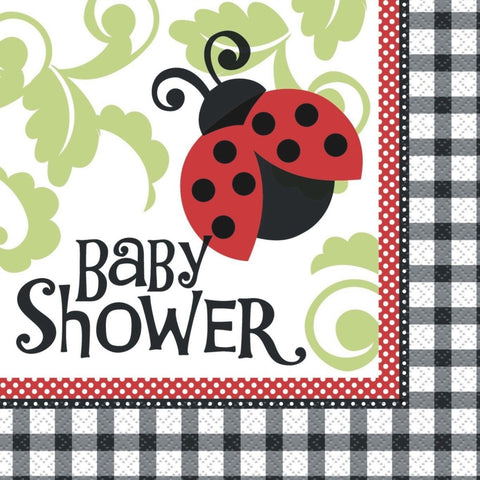 Ladybug Baby Shower Party Serviettes